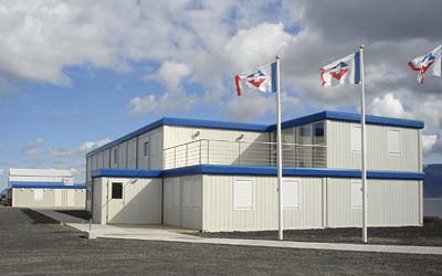 Container office building on Iceland