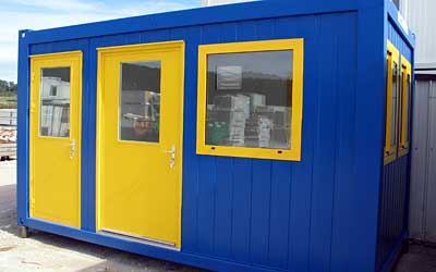 Containers are available with many different panel designs and in multiple colours